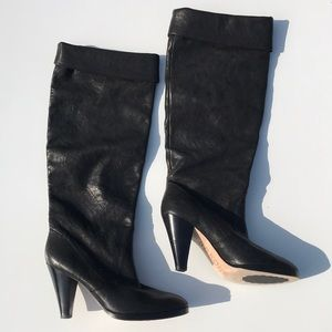 Kors by Michael Kors Black Leather knee high boots